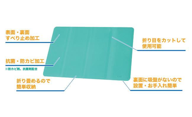 入浴時の転倒防止や使いやすさを追求した究極的な浴槽すべり止めマット新発売。